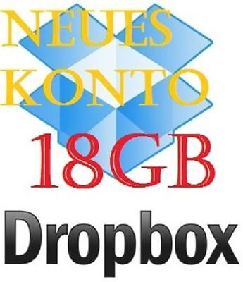Permanent LifeTime DropBox Drop Box 18GB Account Online Cloud Storage Drive Kont