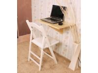 Folding Wall Mounted Occasional Table/ Desk. Boxed, Brand New