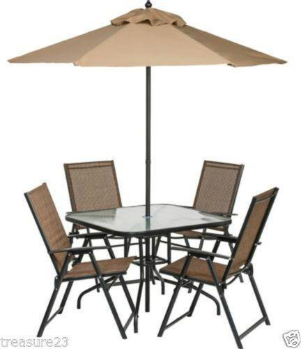 patio table and chairs ebay - Patio Table With Umbrella