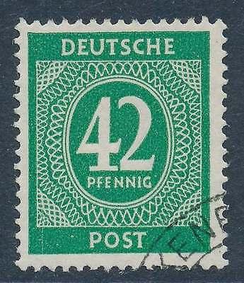 All. Besetzung Nr. 930 gestempelt, 42 Pfg. Ziffer (22218)