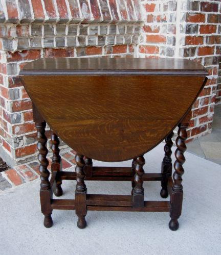 Antique Drop Leaf Table   EBay