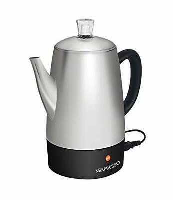 Mixpresso Electric Coffee Percolator | Stainless Steel Coffee Maker | Percola...