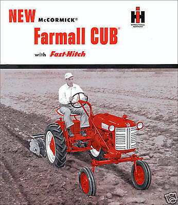 Cub Lo Boy Touch W Fast-hitch Ih Mccormick Farmall Cub Manuals Parts Catalog Cd