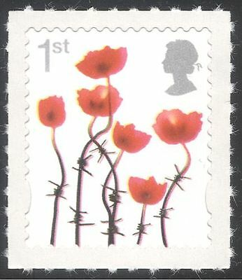 GB 2006 LEST WE FORGET/POPPIES/BARBED WIRE/MILITARY/REMEMBRANCE 1V S/A B1641E