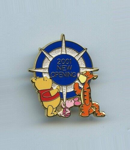 JDS Grand Re-Opening Japan Disney Store Winnie the Pooh Piglet Tigger LE Pin