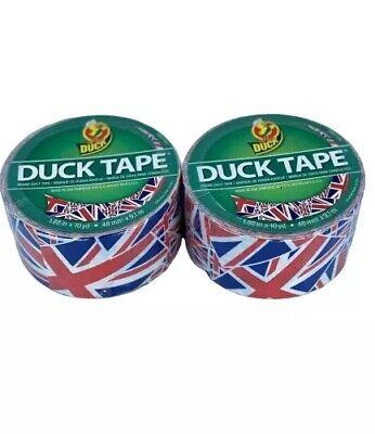 U.k. Flag 1.88 X 10 Yards Patterned Design Moisture Resistant Duct Tape 2 Rolls