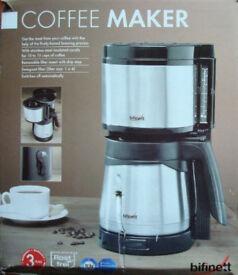 Brand new bifinett coffee maker in very good condition