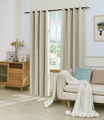 DyFun 2 Panels Linen Thermal Insulated Window Treatment Grom