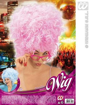 Pink Afro Beehive Wig Priscilla Marge Simpson Style Fancy Dress (Marge Simpson Wig)