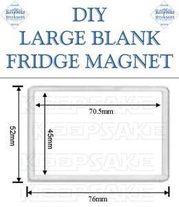 Blank fridge magnets ebay blank plastic fridge magnets reheart Images