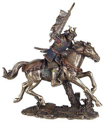 9.5 Inch Samurai on Horse Collectible Statue Figurine Figure Warrior Oriental