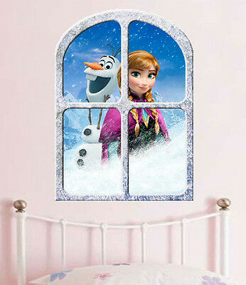 Disney  FROZEN   ANNA and OLAF  GIANT WINDOW VIEW  POSTER