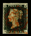 Royalty Great Britain Victoria Penny Black Stamps
