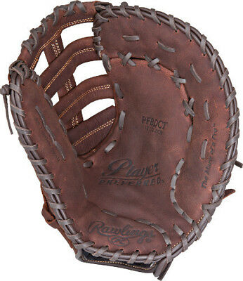 PLAYER PREFERRED 12.5 INCH Rawlings Adult First Base 1st Baseman Baseball Glove