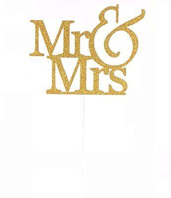 Handmade 1 Count Glitter Love Wedding Cake Decorating Toppers - MR & MRS