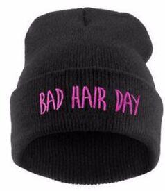 Pink Bad Hair Day Hat Beanie
