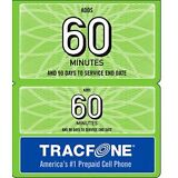 TRACFONE $19.99 Refill 90 Days 60 Minutes. Fast Reload Directly to Phone