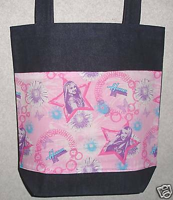 NEW Medium Tote Bag Purse Handmade/w Hannah Montana Fabric Hannah Montana Purse Handbag