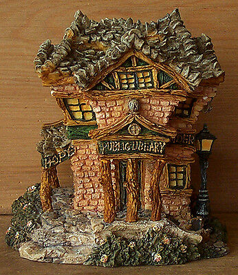 Boyds Bearly-Built Villages~PUBLIC LIBEARY~Bear Town Reading Library
