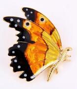 Enamel Silver Butterfly Brooches
