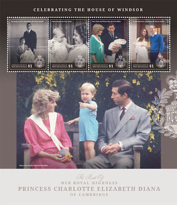 Micronesia- Royal Baby Birth of Princess Charlotte Stamp - Sheet of 4 MNH