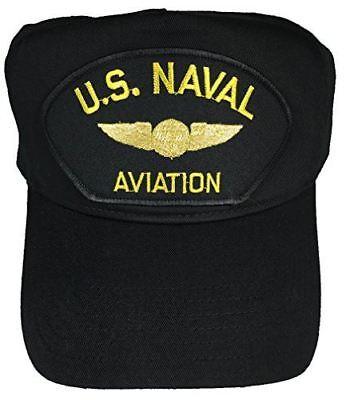 US NAVAL AVIATION W/ NAVAL AIR CREW MAN WINGS HAT CAP VETERAN AW RATING