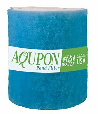Koi Pond Filter Media Pad Fish Ponds Filters Water Pads Cut Fit Roll 12 ft Blue
