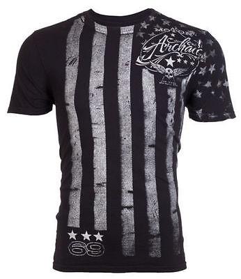 - ARCHAIC by AFFLICTION Mens T-Shirt NATION American Customs USA FLAG Biker $40 a
