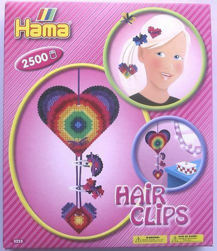 HAMA BEADS 3225 - HAIR CLIP SET - BRAND NEW & BOXED!