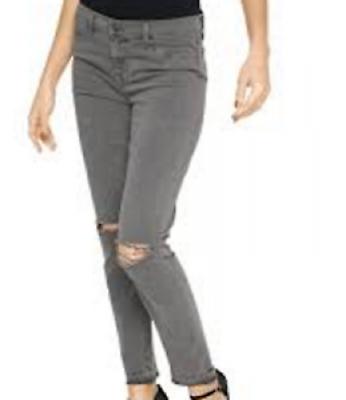 Damen Jeanshose Laura Scott  by Heine größe 38 Grau mit Risse NEU