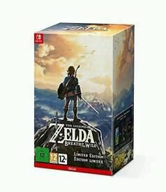 Zelda breath of the wild Nintendo switch limited ed