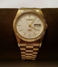 Genuine Mens citizen gold watch for sale (AUTOMATIC)