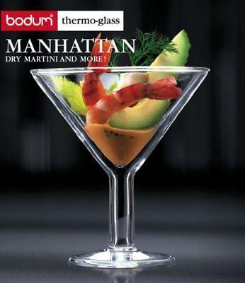 Bodum Manhattan Double-Wall Thermo Martini Glassn 11oz Double Wall Martini Glass