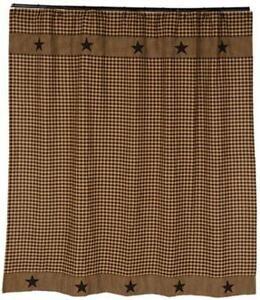 Black Tan Shower Curtain
