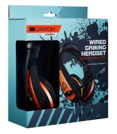 Canyon HEADSET, BLACK, 2M; 2 x 3.5mm Stereo Plugs ( CND-SGHS1 ) Gaming Headset