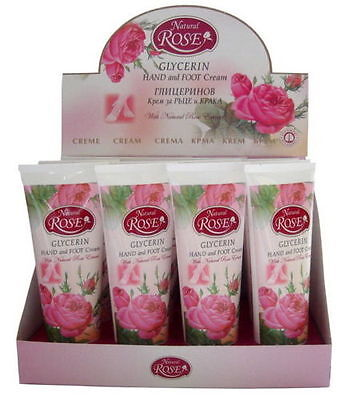 Natural Rose Glycerin & Rose oil Hand and Foot Cream 75ml/2.64oz