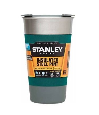 New Stanley Adventure 16 oz. Insulated Stainless Steel Pint Cup, Green  (16 Oz Pint)