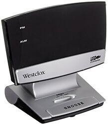 Westclox 71014X 09 LED de pantalla de plasma de reloj despertador con puerto...