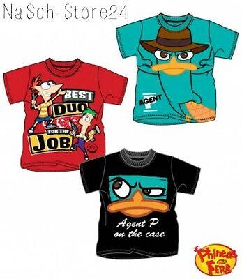 Schwarz Und Türkis (Phineas und Ferb T-Shirt türkis rot schwarz NEU!!! Lizenzware Kurzarmshirt 88230)