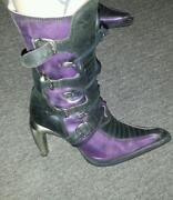 Purple New Rock Boots