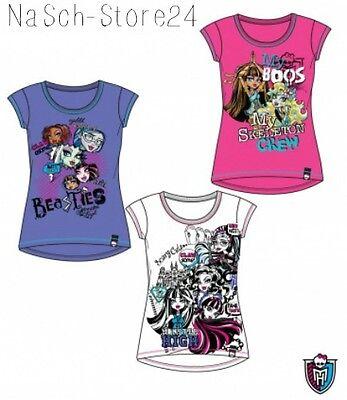 Monster High T-Shirt pink lila weiß Gr. 128-164 Lizenzware Kurzarmshirt 87602