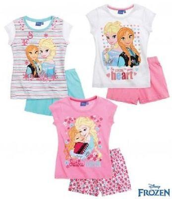 Disney Die Eiskönigin Frozen Elsa Anna Pyjama / Shorty 3 Styles Gr. 104-140 NEU