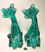 Fenton Carnival Glass Cat