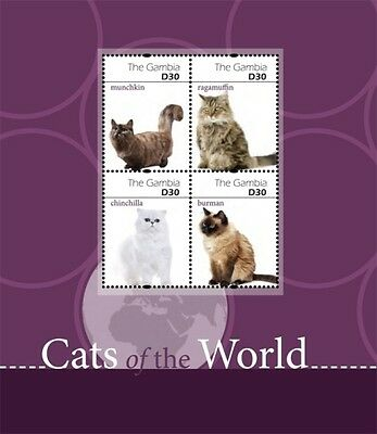[D] GAMBIA - CATS OF THE WORLD, 2011 - SC 3367 S/H MNH