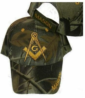 Freemason Mason Embroidered Adjustable Camo Masonic Lodge Camouflage Cap  Ram