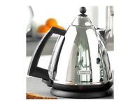 DeLonghi Argento Chrome Kettle Pryamid Style 1.7 Litre 360 degree Swivel Base