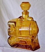 Vintage Amber Glass Decanter