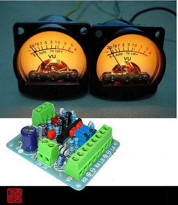 2pcs Panel Vu Meter Warm Back Light Audio Level Amp One Driver Board