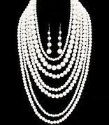 Silver Multi Strand Necklace