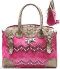Pink Alligator Purse